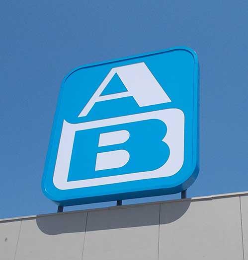 Σήμανση AB με εύκαμπτο βινύλιο μουσαμά