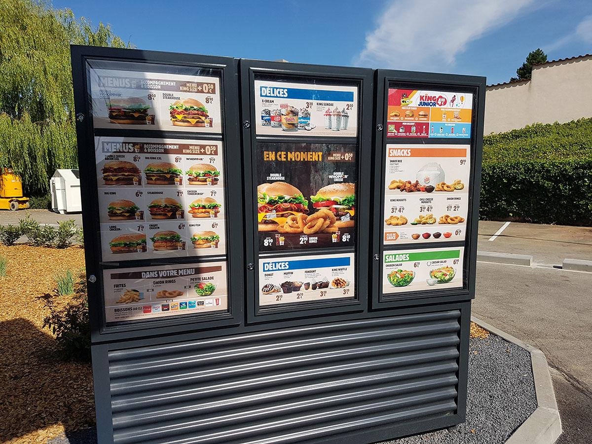 lightbox ειδική κατασκευή Burger King France