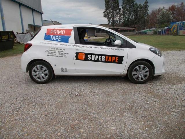 Εφαρμογή αυτοκόλλητων σε όχημα divani 3
