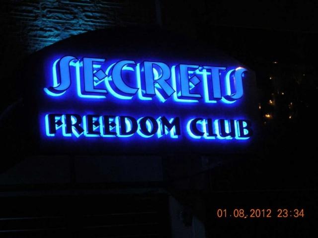 Secrets Freedom club 3D επιγραφή